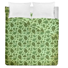 Vintage Paisley Green Duvet Cover (full/queen Size)