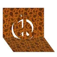 Vintage Paisley Terra Peace Sign 3d Greeting Card (7x5)