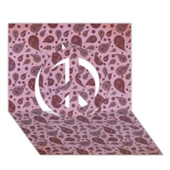 Vintage Paisley Pink Peace Sign 3D Greeting Card (7x5)