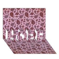 Vintage Paisley Pink HOPE 3D Greeting Card (7x5)