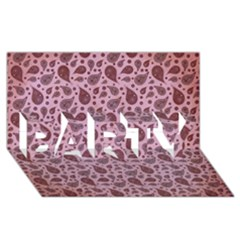 Vintage Paisley Pink PARTY 3D Greeting Card (8x4)