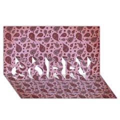 Vintage Paisley Pink SORRY 3D Greeting Card (8x4)