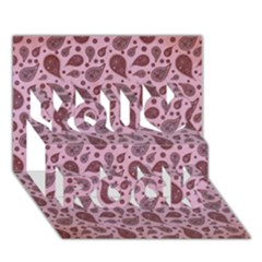 Vintage Paisley Pink You Rock 3D Greeting Card (7x5)