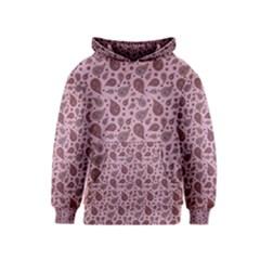Vintage Paisley Pink Kid s Pullover Hoodies