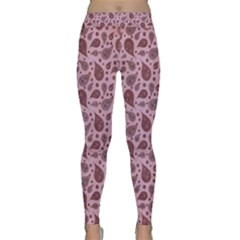 Vintage Paisley Pink Yoga Leggings