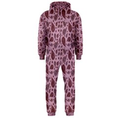 Vintage Paisley Pink Hooded Jumpsuit (Men)