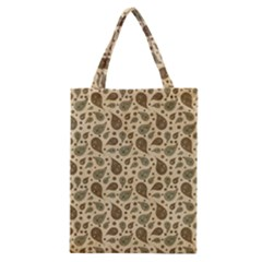 Vintage Paisley Classic Tote Bags