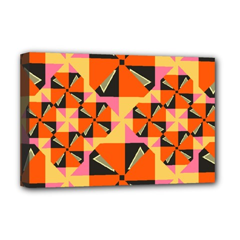 Windmill In Rhombus Shapes Deluxe Canvas 18  X 12  (stretched)