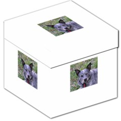 Australian Cattle Dog Blue Storage Stool 12