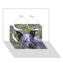 Australian Cattle Dog Blue Clover 3D Greeting Card (7x5)