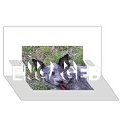 Australian Cattle Dog Blue ENGAGED 3D Greeting Card (8x4)