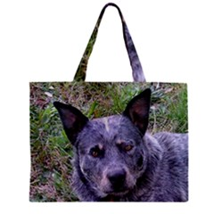 Australian Cattle Dog Blue Zipper Tiny Tote Bags