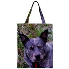Australian Cattle Dog Blue Zipper Classic Tote Bags