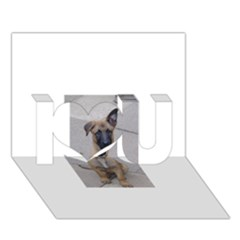 Malinois Puppy Sitting I Love You 3D Greeting Card (7x5)