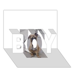 Malinois Puppy Sitting BOY 3D Greeting Card (7x5)