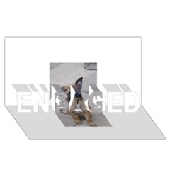 Malinois Puppy Sitting ENGAGED 3D Greeting Card (8x4)