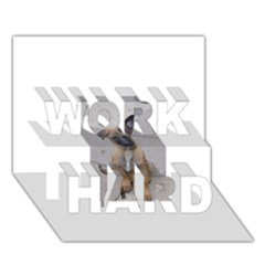 Malinois Puppy Sitting WORK HARD 3D Greeting Card (7x5)