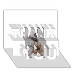 Malinois Puppy Sitting THANK YOU 3D Greeting Card (7x5)