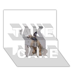 Malinois Puppy Sitting TAKE CARE 3D Greeting Card (7x5)