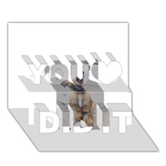 Malinois Puppy Sitting You Did It 3D Greeting Card (7x5)
