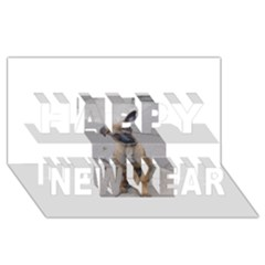 Malinois Puppy Sitting Happy New Year 3D Greeting Card (8x4)