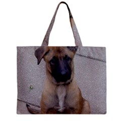 Malinois Puppy Sitting Zipper Tiny Tote Bags