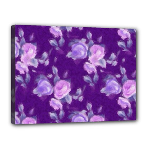 Vintage Roses Purple Canvas 16  X 12