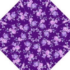 Vintage Roses Purple Straight Umbrellas