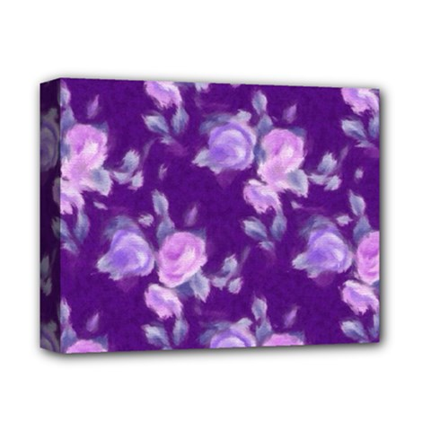 Vintage Roses Purple Deluxe Canvas 14  x 11