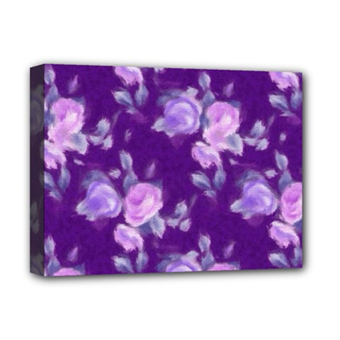 Vintage Roses Purple Deluxe Canvas 16  x 12