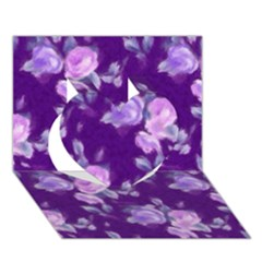 Vintage Roses Purple Heart 3D Greeting Card (7x5)