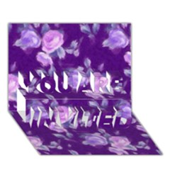 Vintage Roses Purple YOU ARE INVITED 3D Greeting Card (7x5)