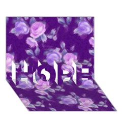 Vintage Roses Purple HOPE 3D Greeting Card (7x5)