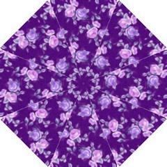 Vintage Roses Purple Hook Handle Umbrellas (small)