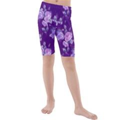 Vintage Roses Purple Kid s Swimwear