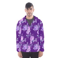 Vintage Roses Purple Mesh Lined Wind Breaker (Men)