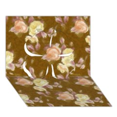 Vintage Roses Golden Clover 3D Greeting Card (7x5)