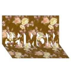 Vintage Roses Golden #1 Mom 3d Greeting Cards (8x4)