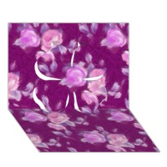 Vintage Roses Pink Clover 3d Greeting Card (7x5)