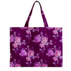 Vintage Roses Pink Zipper Tiny Tote Bags