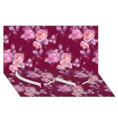 Vintage Roses Twin Heart Bottom 3d Greeting Card (8x4)