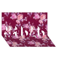 Vintage Roses #1 DAD 3D Greeting Card (8x4)