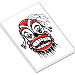 Dark Clown Drawing Large Memo Pads