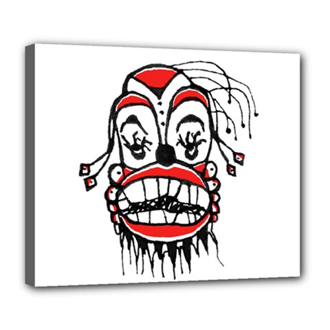 Dark Clown Drawing Deluxe Canvas 24  x 20