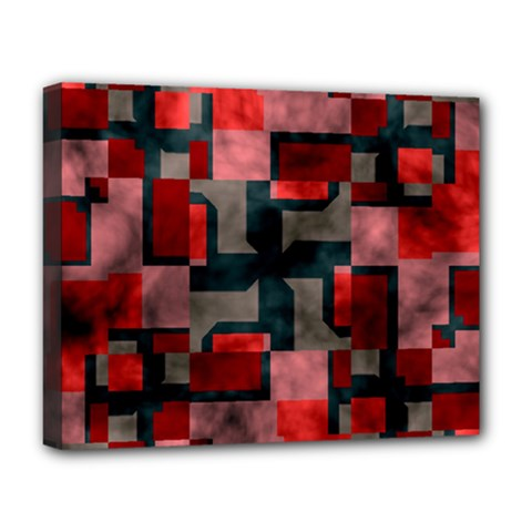Textured shapes Deluxe Canvas 20  x 16  (Stretched)