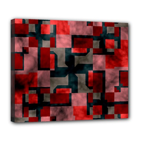 Textured shapes Deluxe Canvas 24  x 20  (Stretched)