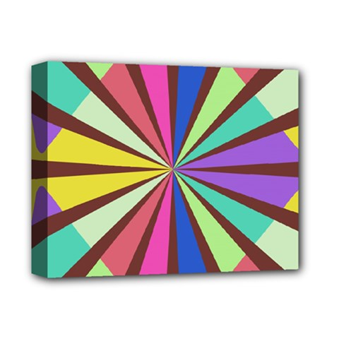 Rays in retro colors Deluxe Canvas 14  x 11  (Stretched)