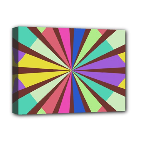 Rays in retro colors Deluxe Canvas 16  x 12  (Stretched)