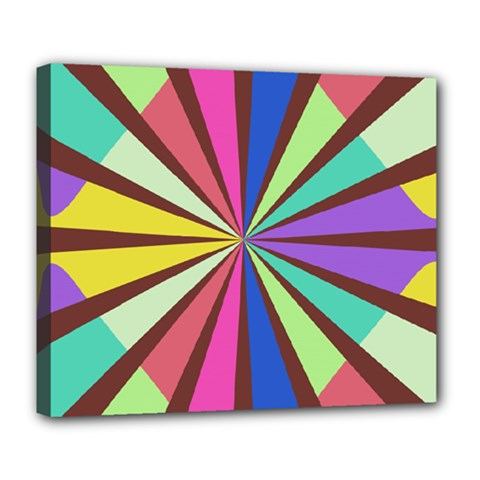 Rays in retro colors Deluxe Canvas 24  x 20  (Stretched)