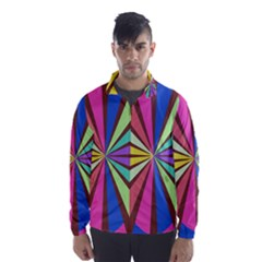 Rays In Retro Colors Wind Breaker (men)